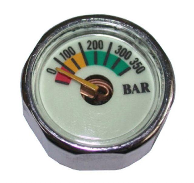 Malý tlakoměr do 350 BAR se závitem přímo na I. stupeň. NTEC