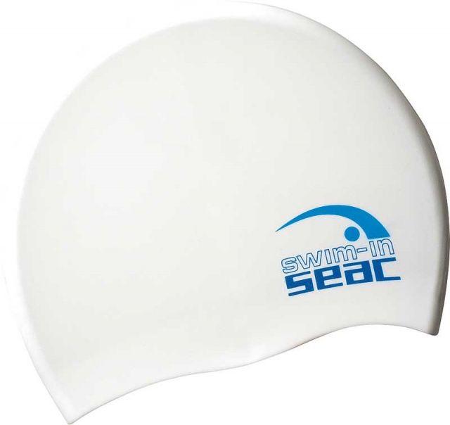 Plavecká čepice silikonová modrá/bílá SEAC SUB
