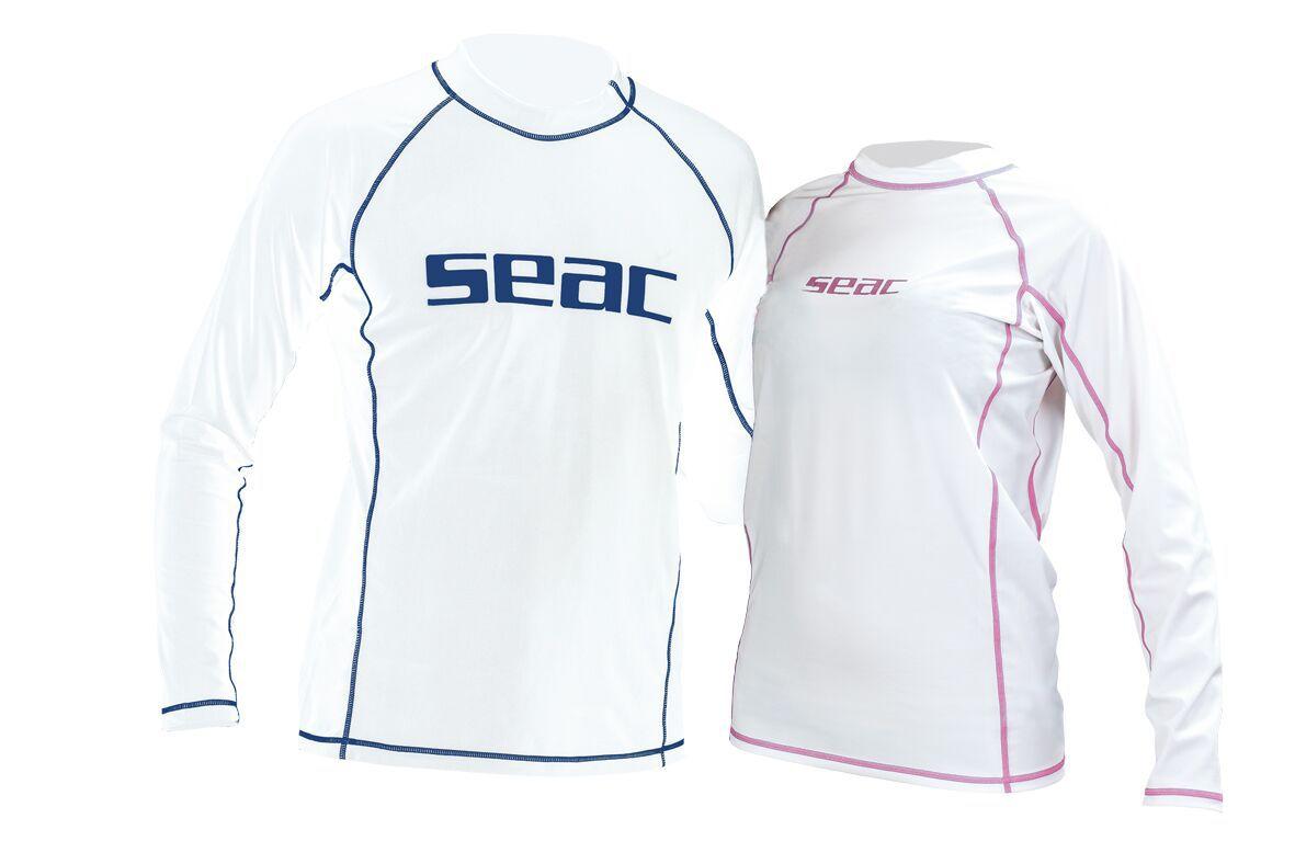 Rychleschnoucí triko s dlouhým rukávem a UV filtrem z lykry, SEAC SUB