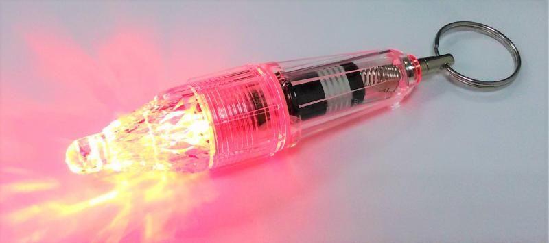 Blikací světlo červené, stroboskop NTEC